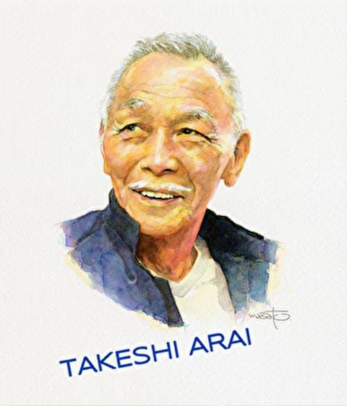 大木理人作、新井武士の肖像画。