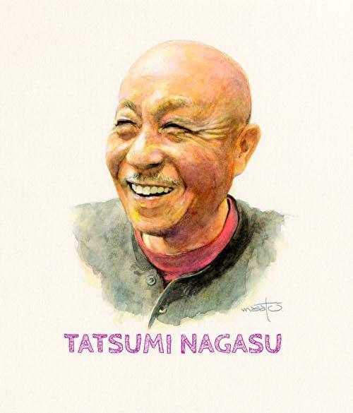 大木理人作、長洲辰三の肖像画。